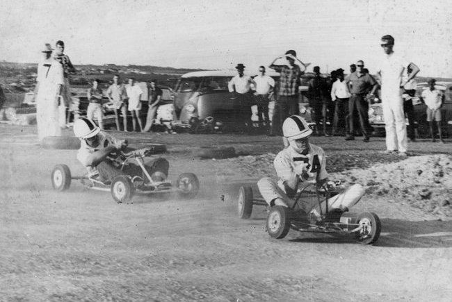 Willie Hassell Karting at Lowthers sixties
